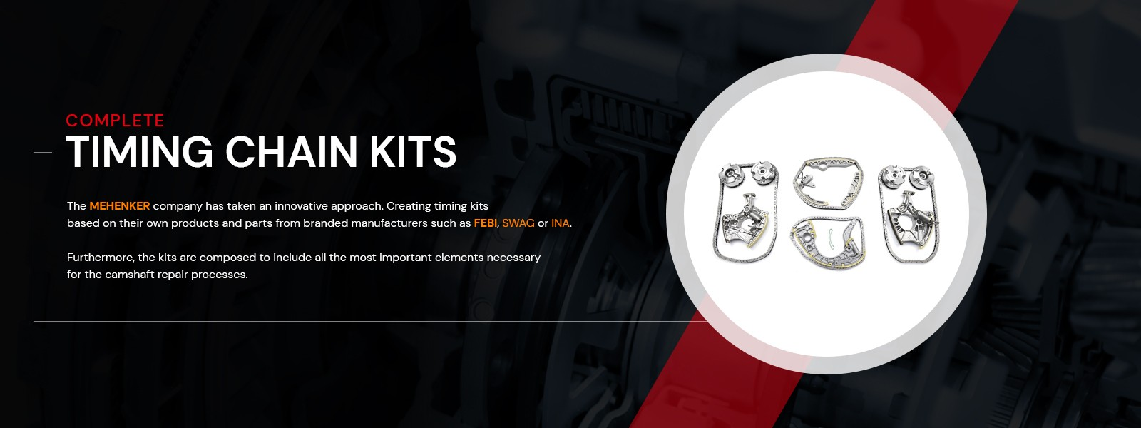 Complete timing chain kits