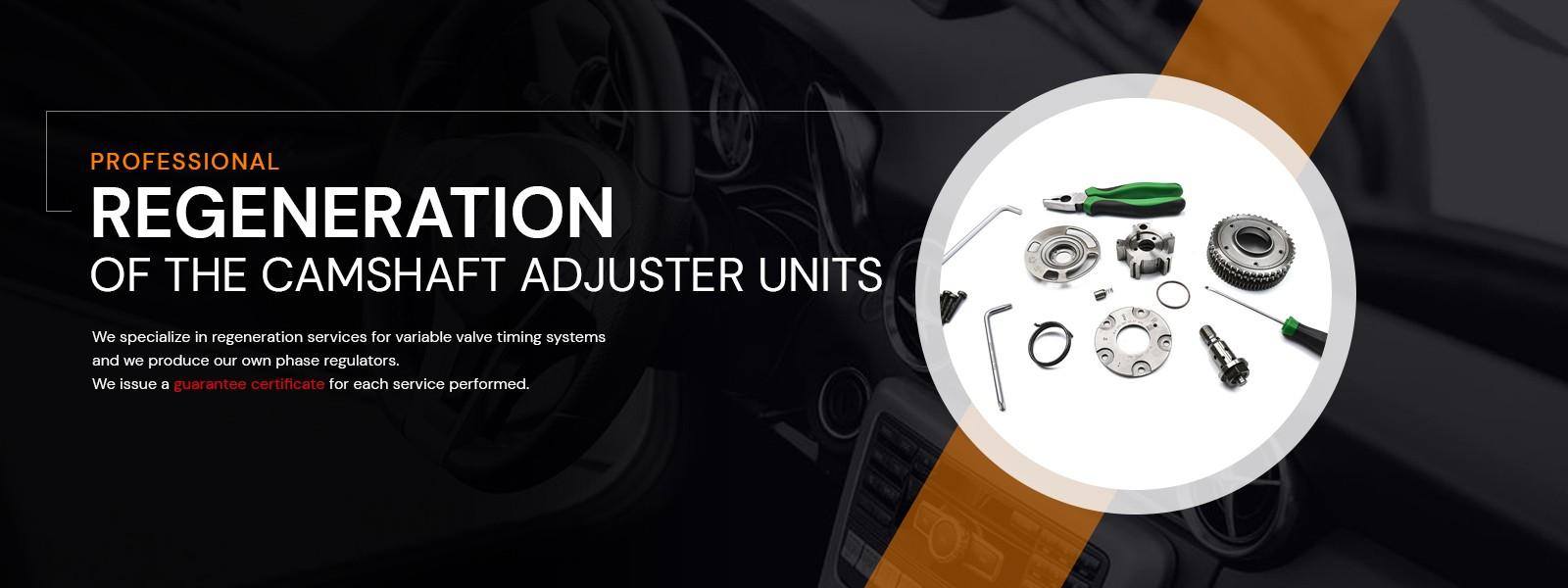 Professionall regeneration of the camshaft adjuster units